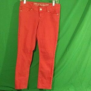 Express red crop jean legging